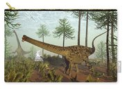 Diplodocus Dinosaurs Among Araucaria Trees - 3d Render Carry-all Pouch