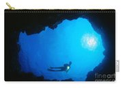 Diver At Cavern Entrance Carry-all Pouch