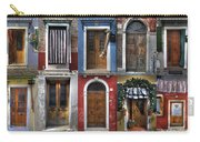 doors and windows of Burano - Venice Carry-all Pouch by Joana Kruse