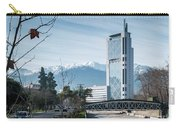 Downtown Street In Santiago De Chile City And Andes Mountains Carry-all Pouch