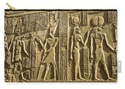 Egyptian Temple Art Carry-all Pouch by Michele Burgess