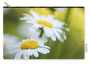Elegant White Daisies Carry-all Pouch