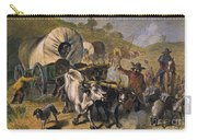 Emigrants To West, 19th C Carry-all Pouch