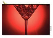 Empty Cocktail Glass On Red Background Carry-all Pouch