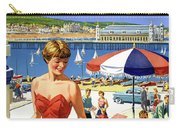 England Weston Super Mare Vintage Travel Poster Carry-all Pouch