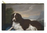 English Springer Spaniel On A Cushion Carry-all Pouch