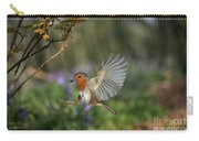European Robin Alighting Carry-all Pouch