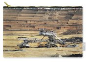 Excavators Working On Open Pit Coal Mine Carry-all Pouch