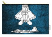 F22 Raptor Blueprint Carry-all Pouch