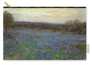 Field Of Bluebonnets At Sunset Carry-all Pouch