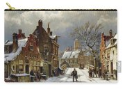 Figures In The Streets Of A Wintry Dutch Town Carry-all Pouch