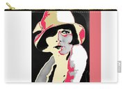 Film Homage Louise Brooks In Flapper Hat 1927-2013 Carry-all Pouch