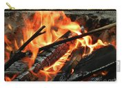 Fire At The Beach IIi Carry-all Pouch by Mariola Bitner