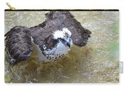 Fish Eagle Bird Playing In Water Carry-all Pouch