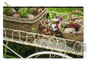 Flower Cart In Garden Carry-all Pouch by Elena Elisseeva