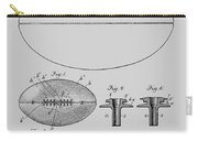 Football Patent Drawing From 1903 Carry-all Pouch