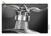 Ford Winged Hood Ornament Black And White Carry-all Pouch