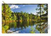 Forest And Sky Reflecting In Lake Carry-all Pouch