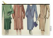Four Flappers Modelling French Designer Outfits, 1928  Carry-all Pouch