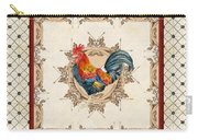 French Country Roosters Quartet Cream 2 Carry-all Pouch