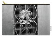 French Quarter Window To The Courtyard - Bw Carry-all Pouch