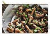Fried Shiitake Mushrooms In Garlic Herb And Olive Oil Snack Carry-all Pouch