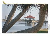 Gazebo Dock Framed By Leaning Palms Carry-all Pouch