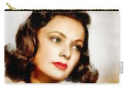 Gene Tierney Hollywood Actress Carry-all Pouch