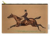 Gentleman Hunting On Horseback Carry-all Pouch
