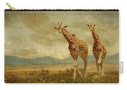 Giraffes In The Meadow Carry-all Pouch