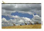 Giraffes On The Horizon Carry-all Pouch