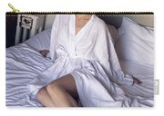 girl in the Bathrobe lying Carry-all Pouch
