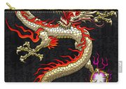 Golden Chinese Dragon Fucanglong  Carry-all Pouch