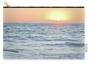 Golden Sunset And Ocean Horizon Carry-all Pouch