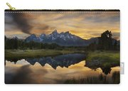 Grand Teton Sunset Reflections Carry-all Pouch