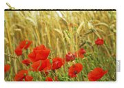 Grain And Poppy Field Carry-all Pouch by Elena Elisseeva