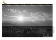 Grand Teton Hazy Sunset  Carry-all Pouch