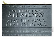 Gravestone In Loving Memory Carry-all Pouch