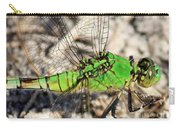 Green Dragonfly Closeup Carry-all Pouch
