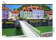 Green Ljubljana Riverfront Panoramic View Carry-all Pouch