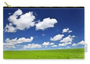 Green Rolling Hills Under Blue Sky Carry-all Pouch by Elena Elisseeva