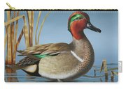 Greenwing Teal Drake Carry-all Pouch