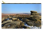 Gritstone Rocks On Hathersage Moor, Derbyshire County Carry-all Pouch