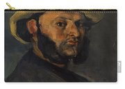 Gustave Boyer B 1840 In A Straw Hat Carry-all Pouch