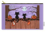 Halloween Cats Fence Carry-all Pouch