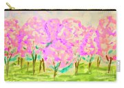 Hand Painted Picture, Spring Garden Carry-all Pouch