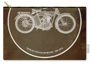Harley Davidson Model 10b 1914 For Some There's Therapy, For The Rest Of Us There's Motorcycles Carry-all Pouch