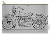 Harley Davidson Motorcycle Patent 1925 Carry-all Pouch