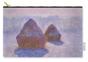 Haystacks, Snow And Sun Effect Carry-all Pouch
