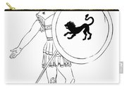hero - warrior of ancient Greece Carry-all Pouch